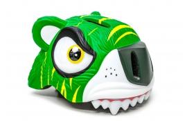 """Шолом СIGNA """"Зелений тигр"""" (3-8років) зелений білий"""